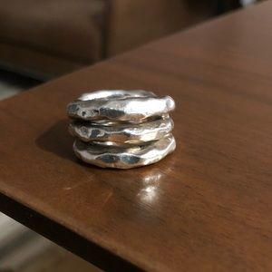 Jewelry - 925 Sterling Silver Israel banded ring